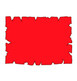 Parchment paper blank document red vector image