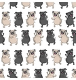 Dancing pugs Seamless pattern vector image