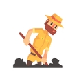 Adventurer Archeologist In Safari Outfit And Hat vector image