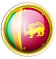 sri lanka flag on round icon vector image