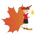 Schoolgirl with bell vector image vector image