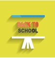 Back to school concept icon flat design vector image vector image