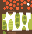 abstract pea pods tomatoes garden collage vector image