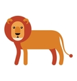 lion flat icon vector image