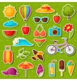 Set of summer stickers Design for cards covers vector image