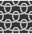 Marine rope loop seamless pattern vector image