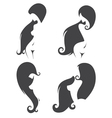 collection of naked girls silhouettes vector image