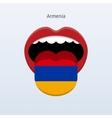 Armenia language Abstract human tongue vector image