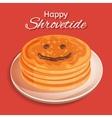Shrovetide festive design Pancake week A stack vector image
