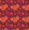 little squirrel seamless background vector image