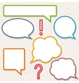 Set of colorful speech bubbles frames for you vector image vector image
