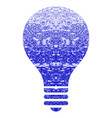 bulb grunge textured icon vector image