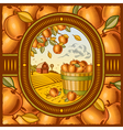 Apple harvest vector image