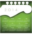 Headstock 2014 Calendar vector image
