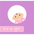 Peek-a-boo baby shower card Its a girl vector image