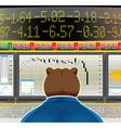 Bear market vector image