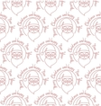 Stylish Merry Christmas seamless pattern with vector image vector image
