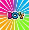 80s Vintage Color Background vector image