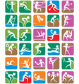 SUMMER SPORTS SYMBOLS COLORFUL vector image
