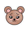 cute wild animal face with expression vector image