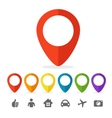 gps pin icon set vector image