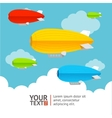Hot air ballons option banners vector image