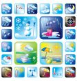 icons meteo vector image