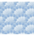 Seamless monochrome blue pattern vector image