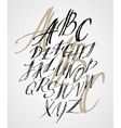 The original alphabet Hand-made lettering vector image