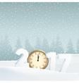 Happy new year 2017 greeting card invitation vector image