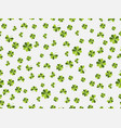 st patricks day seamless pattern with clover on vector image
