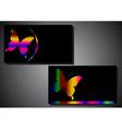 business card with a butterfly vector image vector image