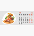 2018 year of yellow dog on chinese calendar fun vector image