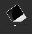 polarod photo frame in pocket vector image