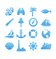 Big set of Nautical icons for Vacation and Travel vector image