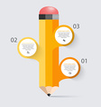 Business education pencil staircase Infographics vector image