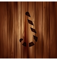 Candy cane web icon Wooden background vector image