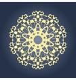Circular mandala pattern fractal graphic carpet vector image
