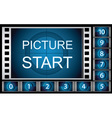 countdown film frames vector image