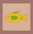 flat shading style icon kids fish vector image