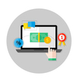 Online Payment Flat Circle Icon vector image