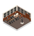 orchestra isometric vector image