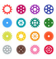 set of color gear wheels vector image