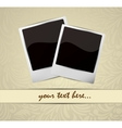 Background with photo frames vector image vector image