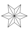 Isolated star of nativity design vector image