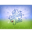 Spring time vintage lettering background vector