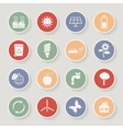 Round ecology icon set vector image