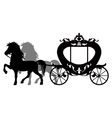 Carriage pulled by two horses vector image