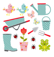 Cute gardening set vector image