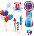 Fourth of July symbols vector image